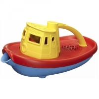 Green toys sleepboot geel gerecycled